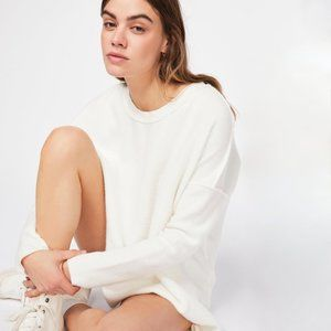 FREE PEOPLE Washed Ashore Inside Out Sweatshirt